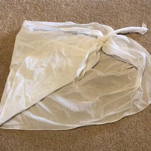 Victoria secret women's mesh white sarong